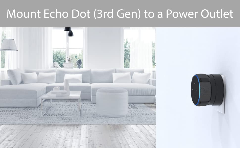 TotalMount Outlet Mount for Echo Dot (3rd Gen)