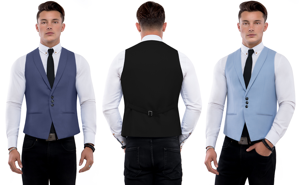 3a52e344479 TAM WARE Men s Casual Slim Fit Deep V-neck Single Breasted Vest at ...
