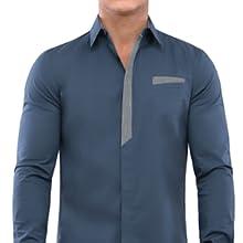 Blue Shirts, Shirts, Men, Men shirts, Dress, Date, TAM WARE, TOMSWARE
