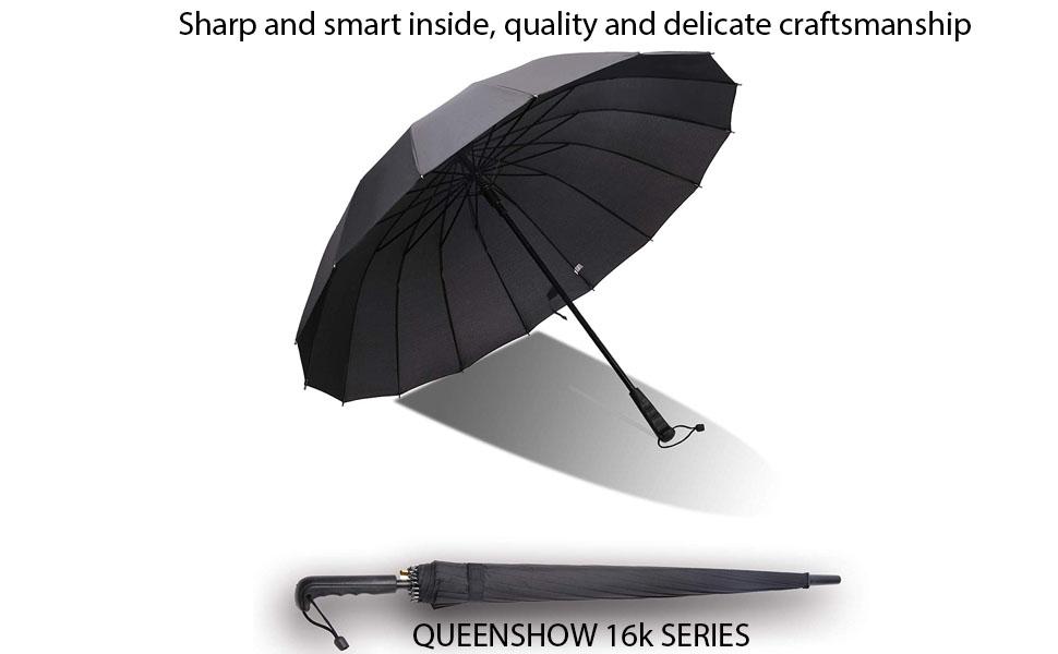 28e721f30942 Amazon.com: QUEENSHOW Extra Large Couple Travel Umbrella Straight ...