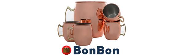 Amazon.com: BonBon Jumbo 192 Onzas Taza de cobre Moscow Mule ...