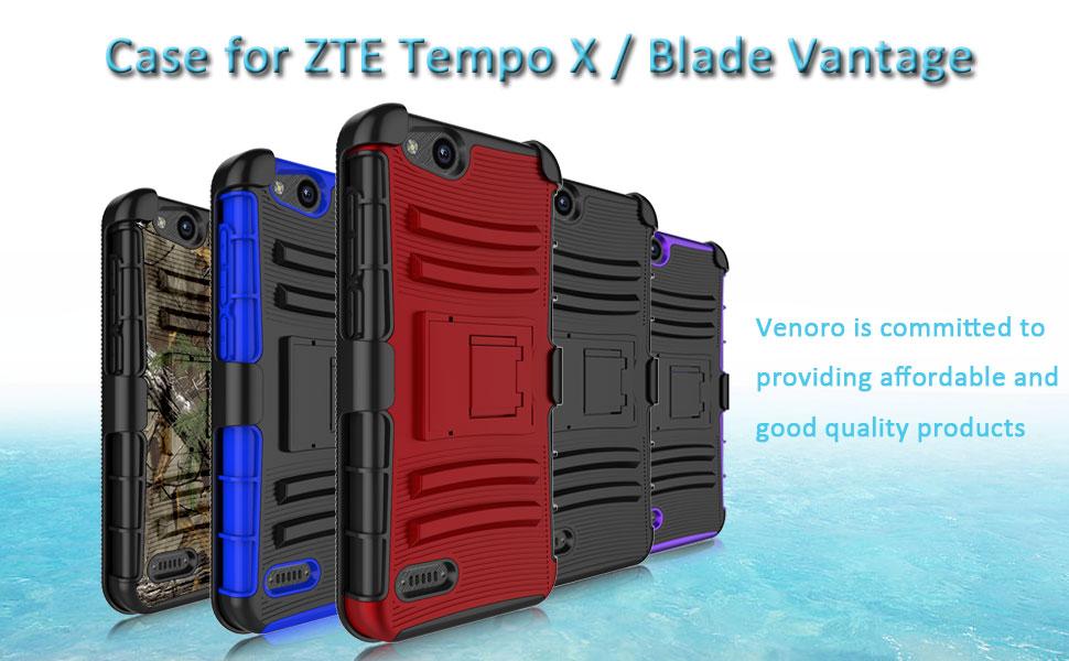 Venoro Compatible with ZTE Tempo X Case, ZTE Blade Vantage