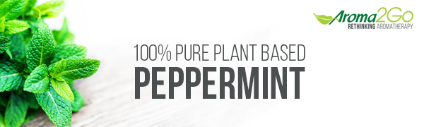 peppermint essential oil, aromatherapy oil banner, peppermint pure essential oil, peppermint roll-on