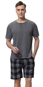 Mens pajama set cotton