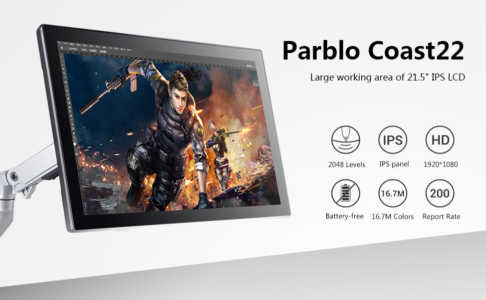 Parblo Coast22 Drawing Monitor
