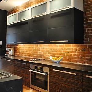 Wobane Under Cabinet Lighting Kit Flexible Led Strip Lights Bar Under Counter Lights For Kitchen Cupboard Desk Monitor Back Shelf 6 6 Feet Tape Light Set Ul Listed 120 Leds 1100lm 2700k Warmwhite