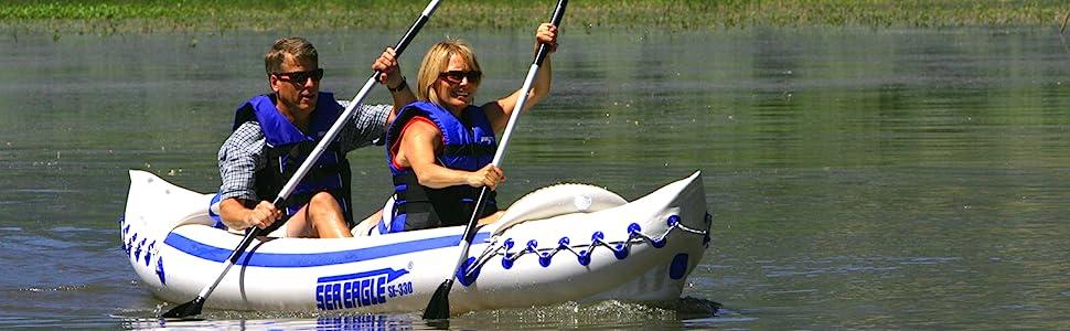 Inflatable Kayak, Tandem Kayak, Sea Eagle, SE330, Sport Kayak