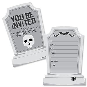 Graveyard Tombstones Halloween Party Invitations