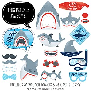Shark Zone Photo Booth Props