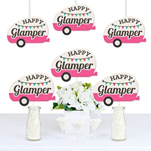 Let's Go Glamping Camper Birthday Party Decorations