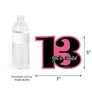 Chic 13th Birthday Party Invites