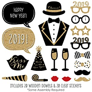Amazoncom New Years Eve Party Gold 2019 New Years Photo Booth