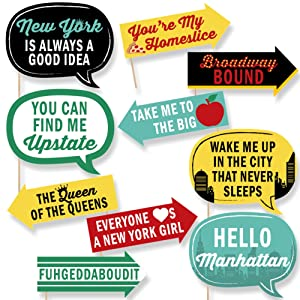 Amazoncom Big Dot Of Happiness Funny New York Photo Booth Props