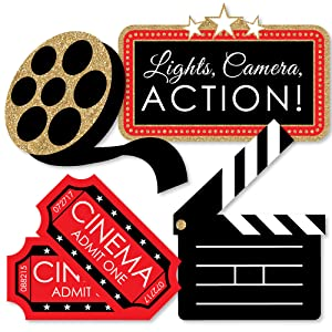 Amazon.com: Red Carpet Hollywood – Juego de 20 decoraciones ...