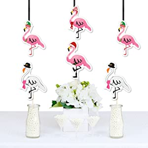 Tropical Christmas Party Ideas.Amazon Com Flamingle Bells Flamingo Decorations Diy Tropical
