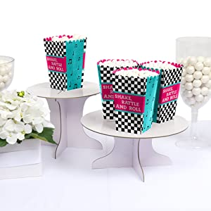 50s Sock Hop 1950s Rock N Roll Grease Themed Party Popcorn Boxes