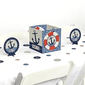 Ahoy Nautical Birthday Bday Baby Shower Table Decorating Kits