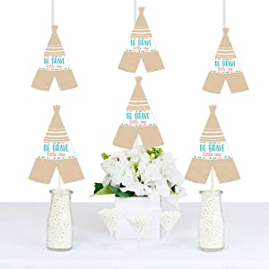 Amazon Com Be Brave Little One Teepee Decorations Diy Boho Tribal Baby Shower Or Birthday Party Essentials Set Of 20 Health Personal Care
