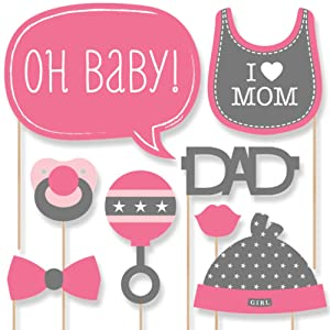 Baby Girl Baby Shower Photo Booth Props Kit 20 Count