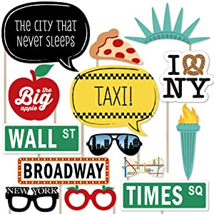 Amazon new york photo booth props kit 20 count toys games honor the big apple when you take new york party pics with this fun photo booth prop kit new york city themed photo booth kit includes 20 fun props are solutioingenieria Images