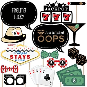 Amazoncom Las Vegas Casino Photo Booth Props Kit 20 Count