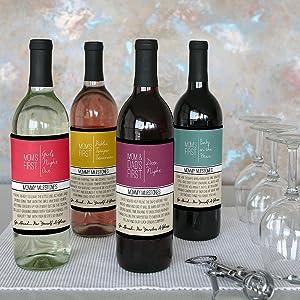 amazon com mommy s first milestones wine bottle label gift set