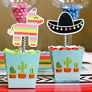 Amazon Com Let S Fiesta Paper Straw Decor Mexican Fiesta Party
