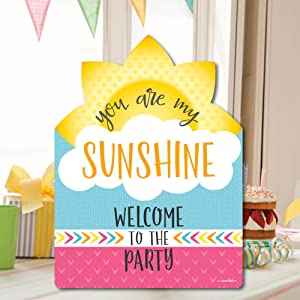 amazon com you are my sunshine party decorations birthday party