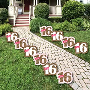 Amazoncom Sweet 16 Sweet Sixteen Lawn Decorations Outdoor