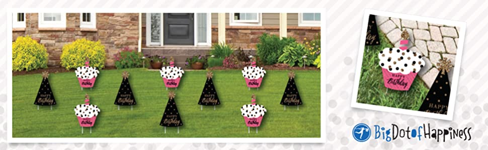 Chic Happy Birthday Lawn Decorations Are Reusable