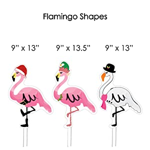 flamingo christmas yard ornaments are a generous size that will look great in any space their vivid colors are welcoming to all your guests - Flamingo Christmas