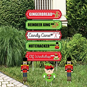 style a fun entrance to your home or business with funny christmas lawn decorations these reusable yard signs are printed on durable plastic with a