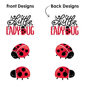 Baby Shower or Birthday Party Fold and Flare Centerpieces Happy Little Ladybug 10 Count Table Decorations