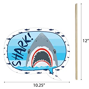 Shark Zone Photo Booth Props Talk Bubble
