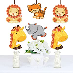 Amazon Com Funfari Fun Safari Jungle Giraffe Lion Tiger And