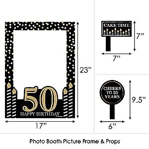 Amazoncom Big Dot Of Happiness Adult 50th Birthday Gold