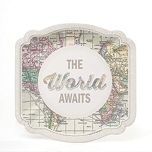 World Awaits Dessert Plate