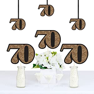 Amazon Com Adult 70th Birthday Gold Decorations Diy Party