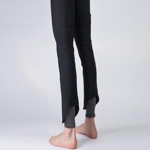 Mfasica Men Pure Color Thin Straps Pockets Harem Pants Casual-Pants