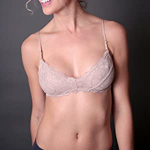 48492bd94815bd Coobie Womens Undie Couture Wide Strap Lace Bralette at Amazon ...