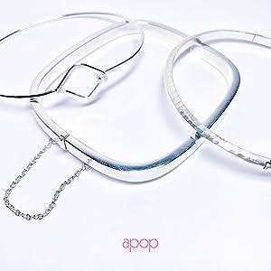 Apop silver bangle