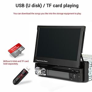 car radio with USB TF