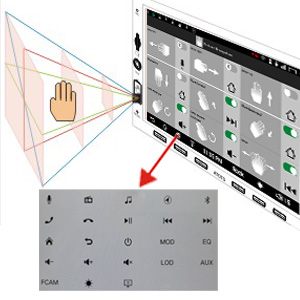ATOTO A6 Pro hands gesture recognition control feature