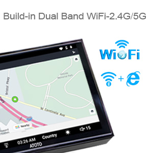 ATOTO A6 ANDROID CAR RADIO WIFI 2.4GHZ 5GHZ