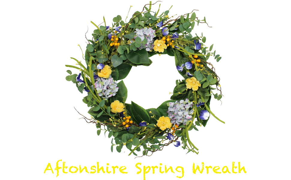 Amazon Com The Wreath Depot Aftonshire Silk Spring Front Door Wreath 24 Inch Beautiful Handcrafted Wreath Design White Storage Gift Box Included Home Kitchen