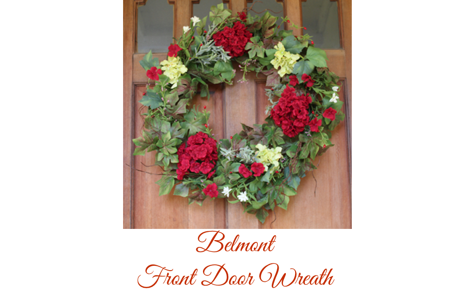 Amazon.com: The Wreath Depot Belmont Silk Decorative Front