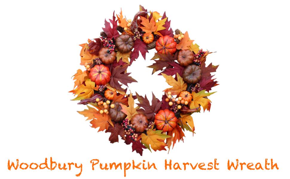woodbury pumpkin harvest wreath