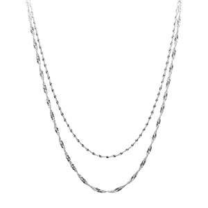 Sterling Silver Girls .8mm Box Chain Happy Cute Infant Baby Playing Toy Pendant Necklace