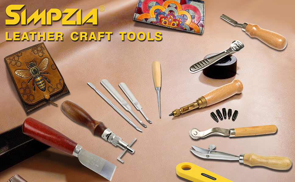 Amazon Com Leather Craft Tool Simpzia 25 Pcs Leather