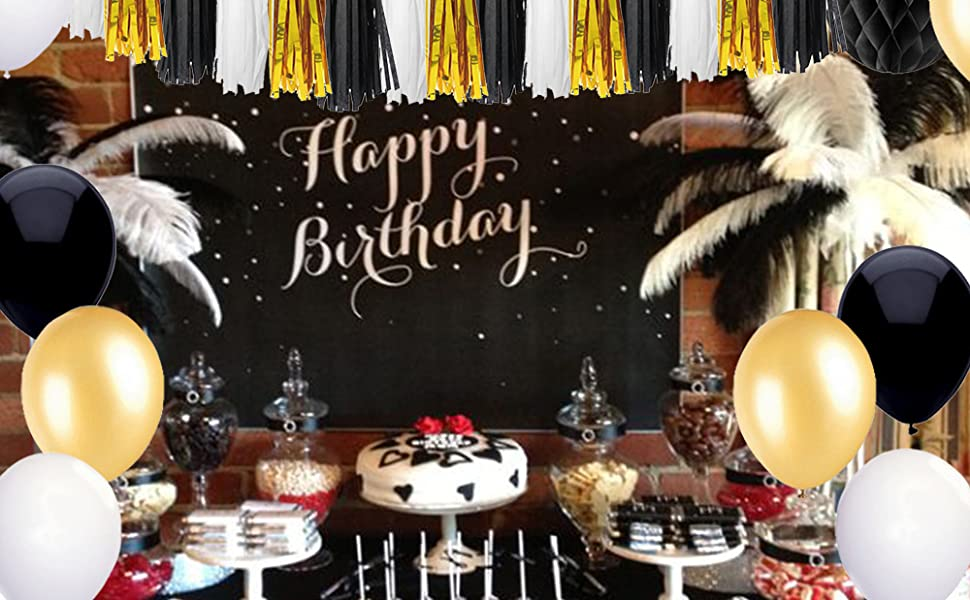 Birthday Party Decoration Black And Gold